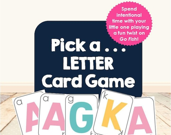 Pick a Letter Card Game | Go Fish | Gameschooling | homeschool game | letters | abcs | alphabet | early learning | morning basket