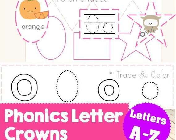 Cut + Paste Letter Activity Crowns