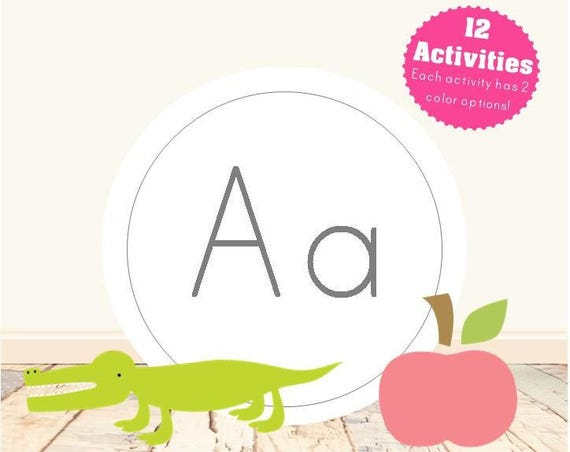 Letter A Alphabet Letter Learning Pack
