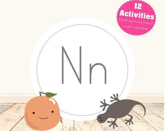 Letter N Alphabet Letter Learning Pack