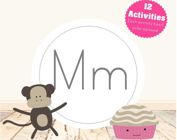 Letter M Alphabet Letter Learning Pack