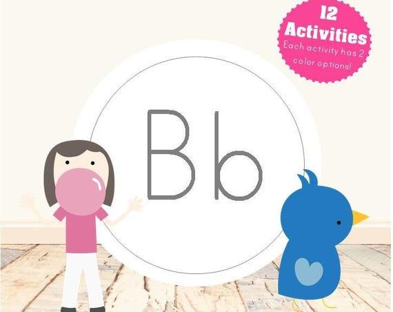 Letter B Alphabet Letter Learning Pack
