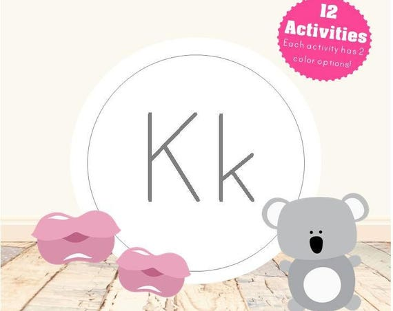 Letter K Alphabet Letter Learning Pack