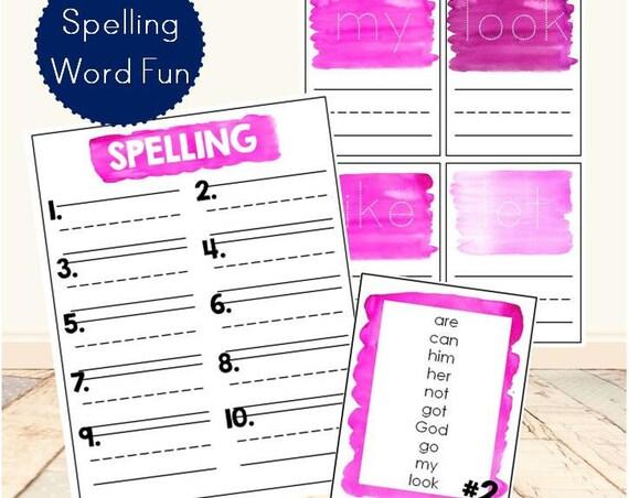 Spelling Word Fun (Kindergarten)