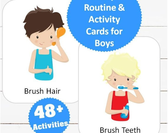 Daily Routine & Activity Cards for Boys