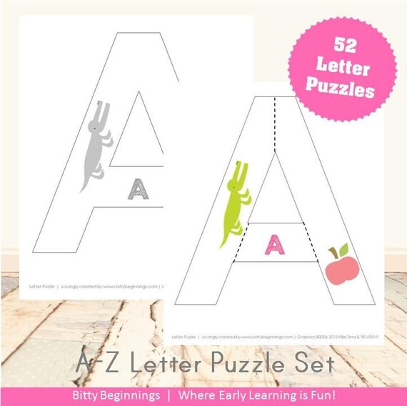 A-Z Upper + Lowercase Letter Puzzles