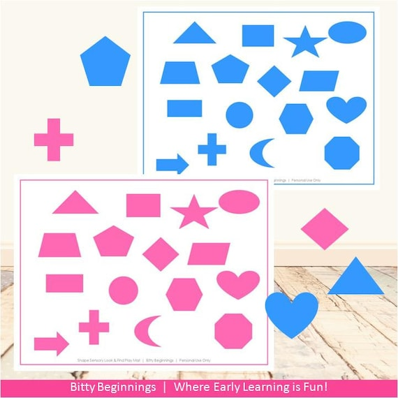 Shapes Sensory Look & Find