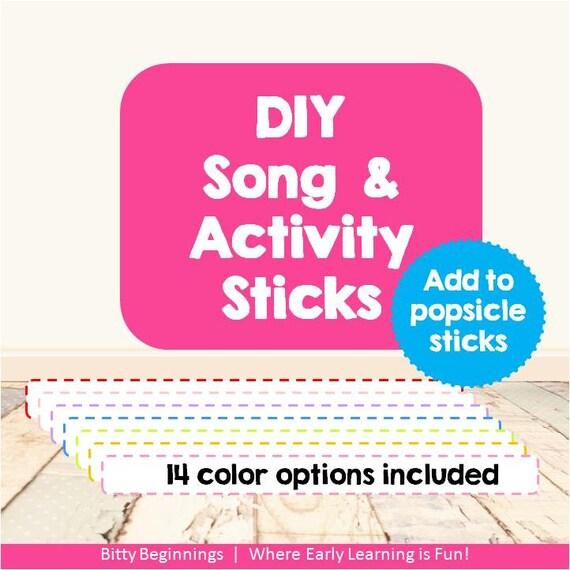 DIY Song & Activity Sticks