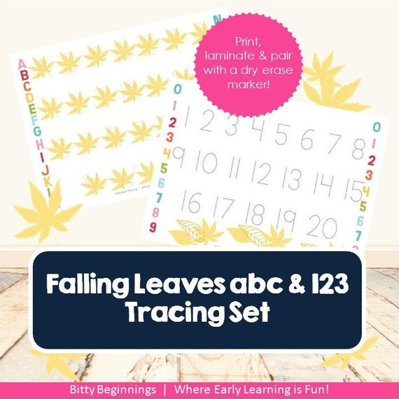 ABC + 123 Tracing Set - Falling Leaves Collection