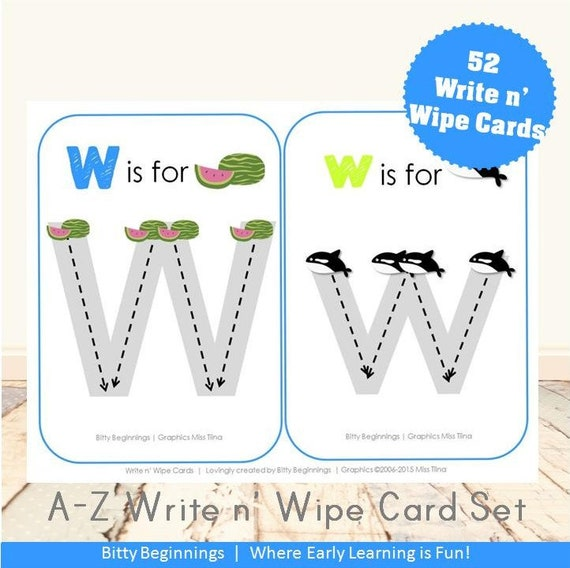 A-Z Write n' Wipe Activity Cards