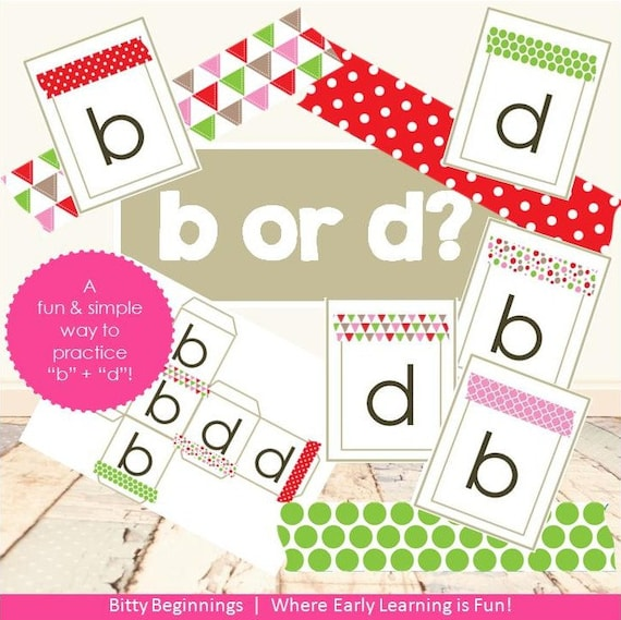 Christmas b or d | letters | alphabet | flashcards | letter game