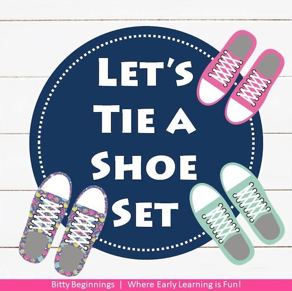 Let's Tie a Shoe Set | Fine Motor Shoe Tying Practice | Instant Download | DIY