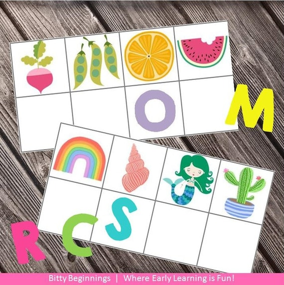 Beginning Sound Strip Cards - Fruits, Veggies & Summer Set