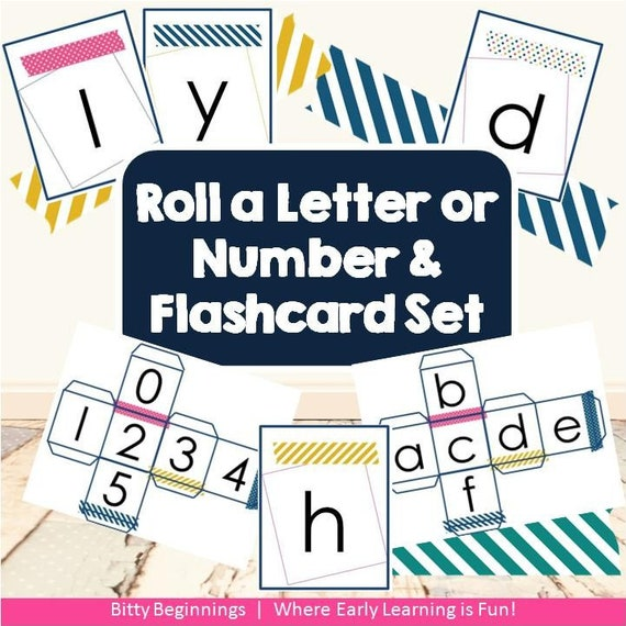 Roll a Letter or Number & Flashcard Set