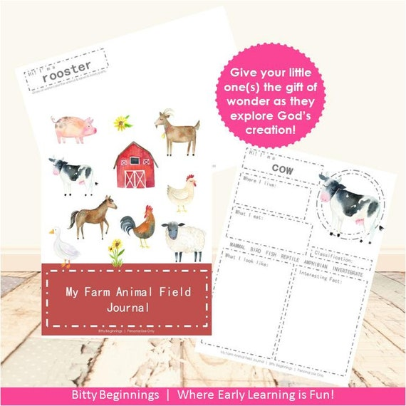 My Farm Animal Field Journal