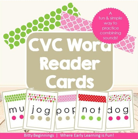 Christmas CVC Word Reader Cards