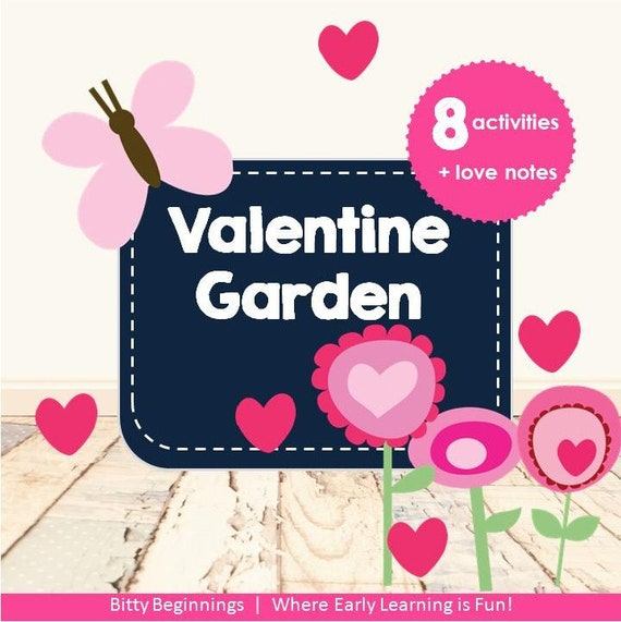 Valentine Garden Early Learning Activity Pack