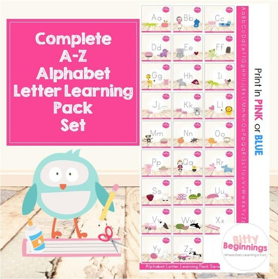 Complete A-Z Alphabet Letter Learning Pack Set | Preschool Curriculum | Pre-K | Letter of the Week | Tot School