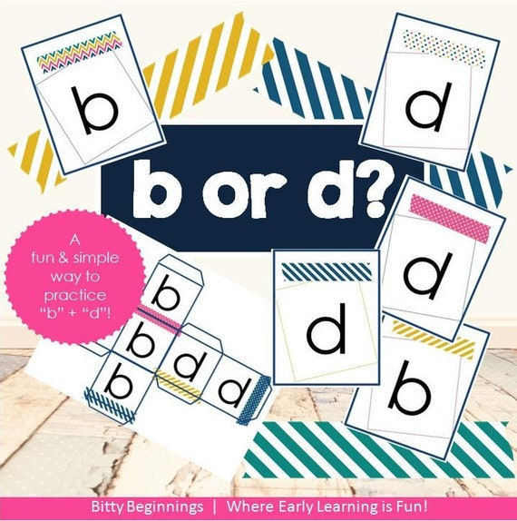b or d | letters | alphabet | flashcards | letter game