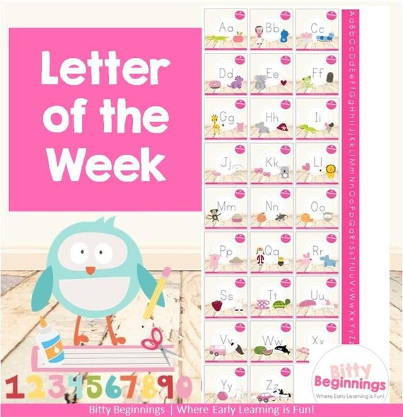 Bitty Beginnings' Letter of the Week Preschool Bundle - ages 2-5