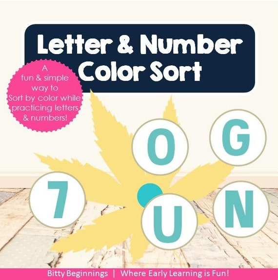 Letter & Number Color Sort - Falling Leaves Collection