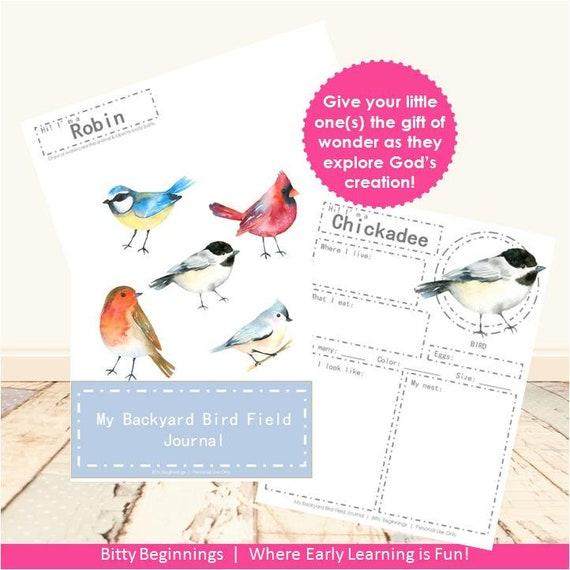 My Backyard Bird Field Journal