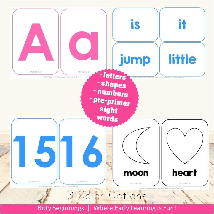 Preschool Flash Card Set | Uppercase Letters, Lowercase