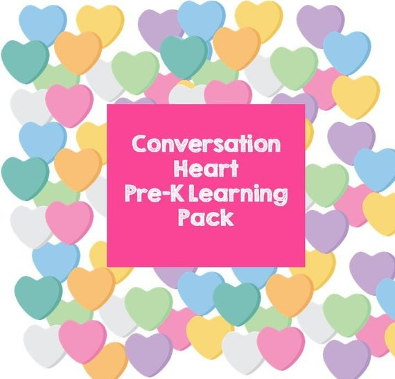 Conversation Heart Early Learning Activity Pack
