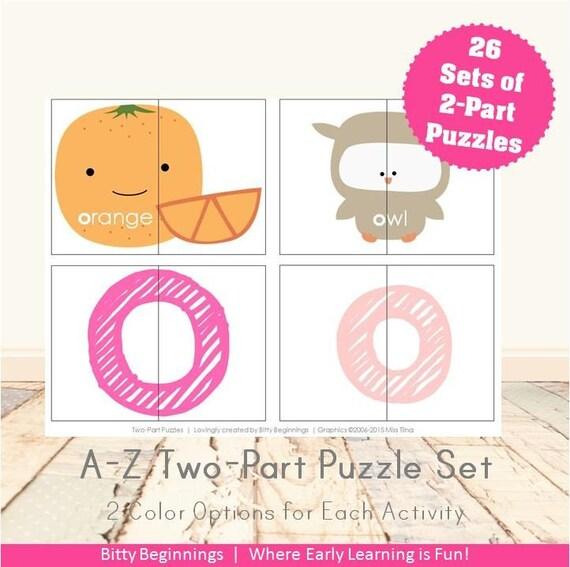 A-Z Two-Part Puzzle Set