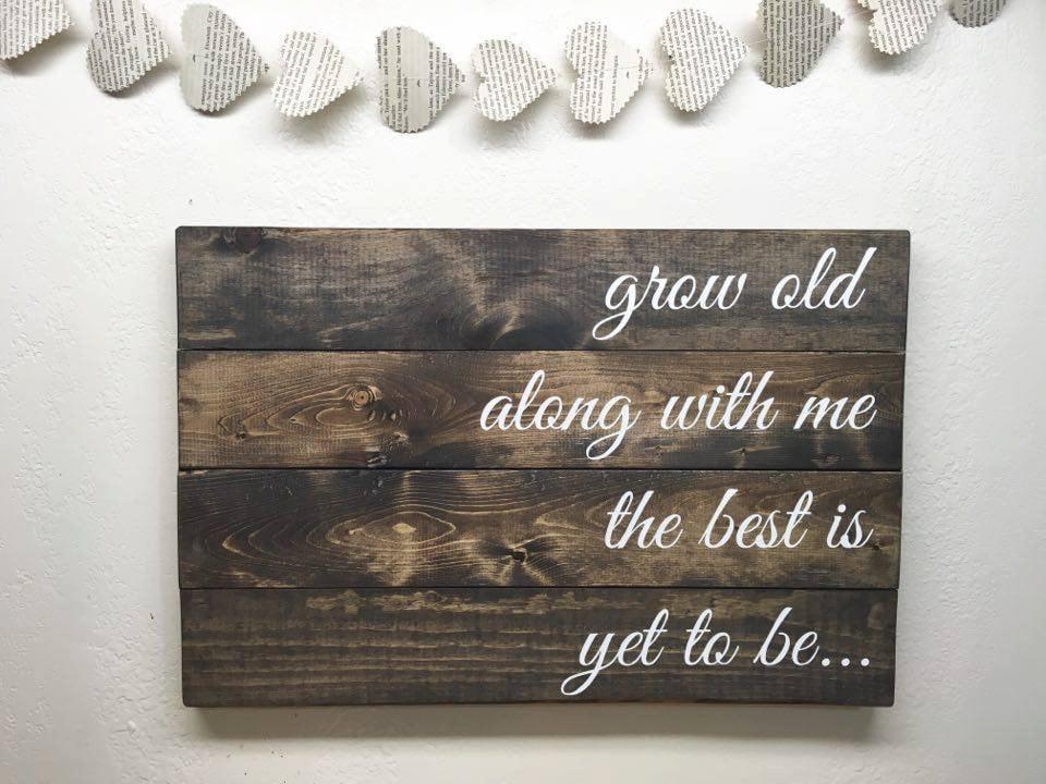 Alt mit mir ist das beste doch sein Holz Zitat Palette | Etsy