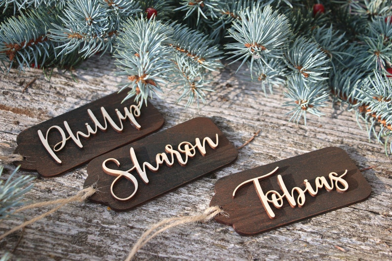 Christmas wood gift tagswooden gift tagsChristmas tagsgift image 0