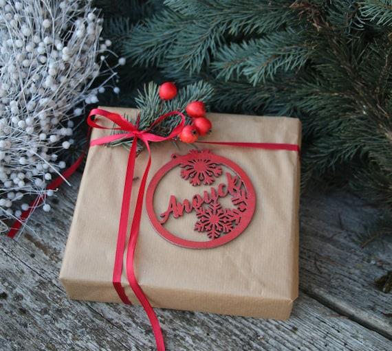 Laser Cut Best Boyfriend Christmas Tree Bauble Gift Tag Anniversary Birthday