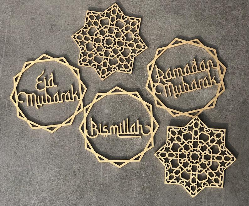 Set of 6 Ramadan Decors Eid Decors Ramadan Kareem Ramadan image 0