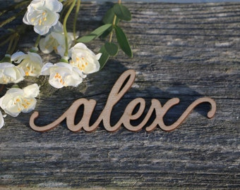 Custom Laser Cut Name sign/Place Setting Sign/Dinner Party Place Card /Wedding Escort Card/ Modern Calligraphy Party Decoration