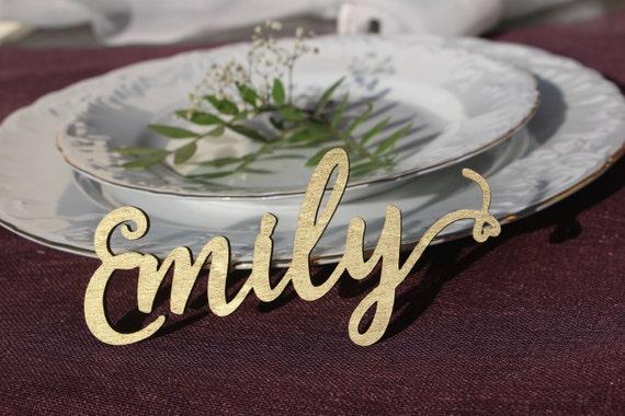 laser schneiden holz hochzeit name zeichen gold lackiert etsy. Black Bedroom Furniture Sets. Home Design Ideas