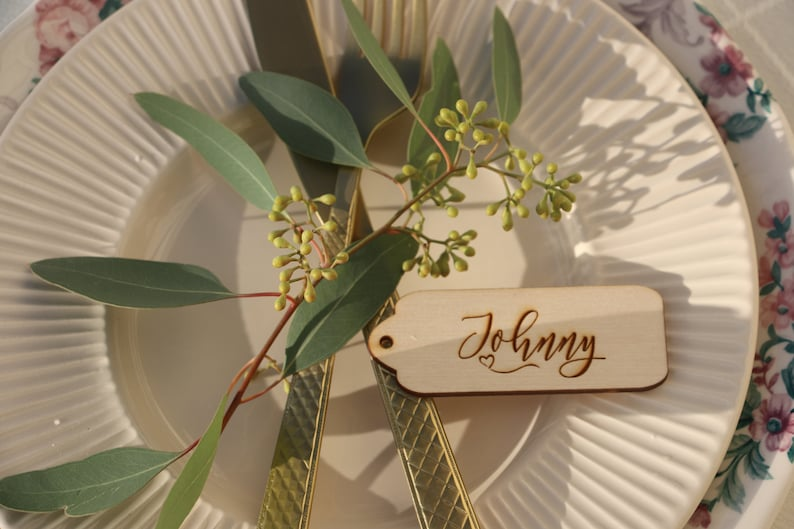 place card names,modern calligraphy place card,engraved place cards,tags Laser cut wedding table namesWooden place cardsWedding table signs