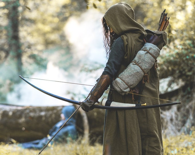 Featured listing image: Medieval Ranger Cloak - Linen - 6 Color Choices