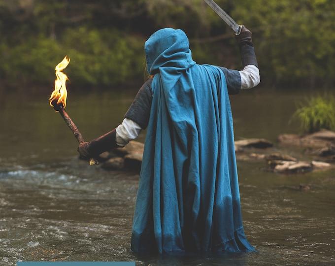 Featured listing image: Medieval Adventurer's Cloak - Linen - 6 Color Choices