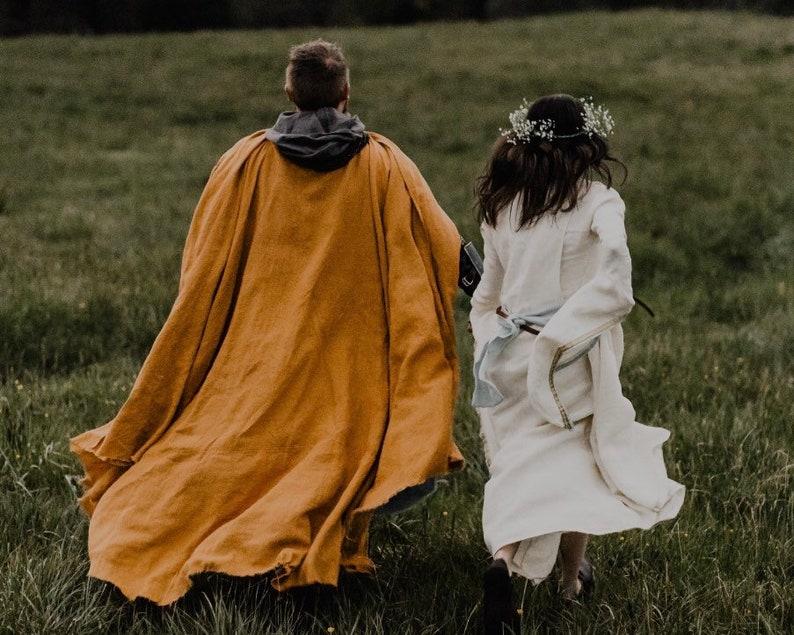 Knight/'s Cape Medieval Linen Cloak