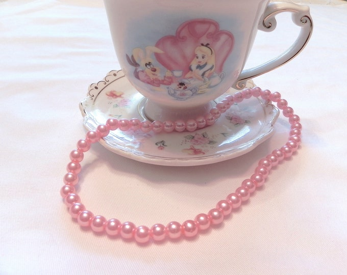 Little Girl's Pink Pearl Necklace