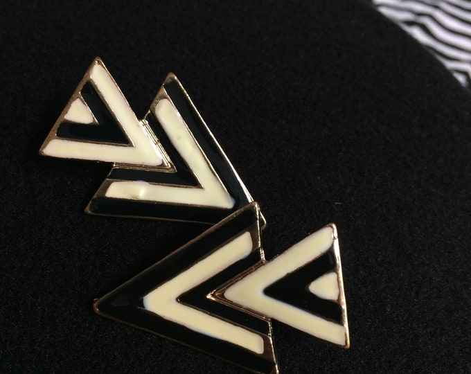 Double Triangle Red and Green Earrings (3 Color Choices)
