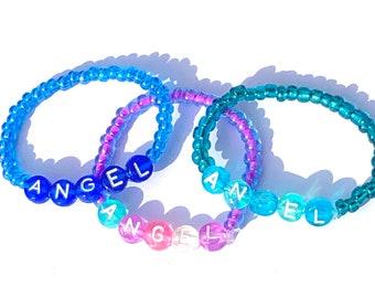 ANGEL Beaded Baby Bracelets 0-6 months