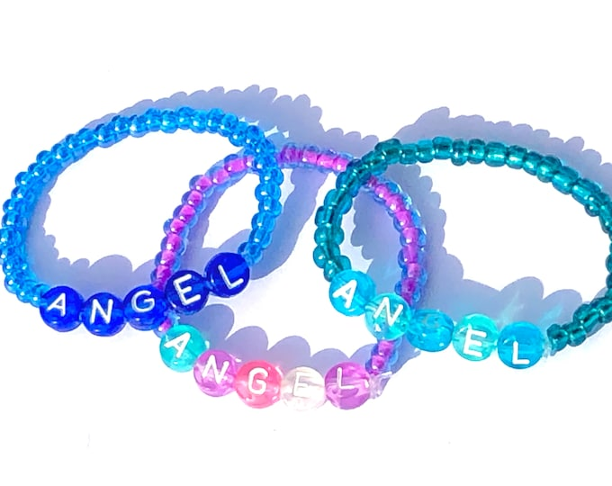 ANGEL Beaded Baby Bracelets 0-6 months