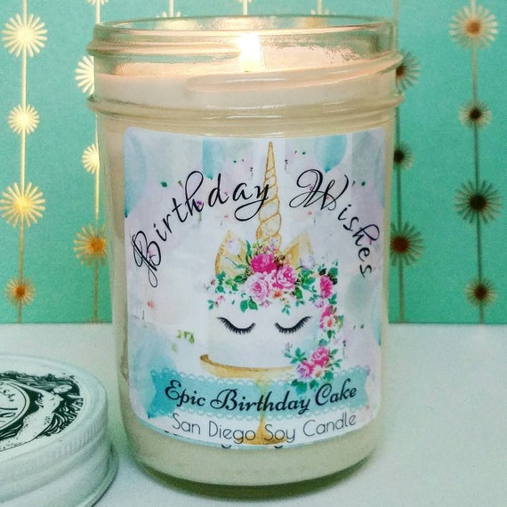Epic Birthday Cake Soy Candle Unicorn Gift For Her Greeting Friend Under 20