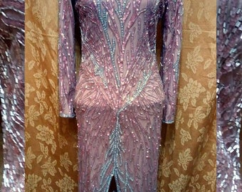 36255960cae0d Bob Mackie Boutique Beaded Evening Gown
