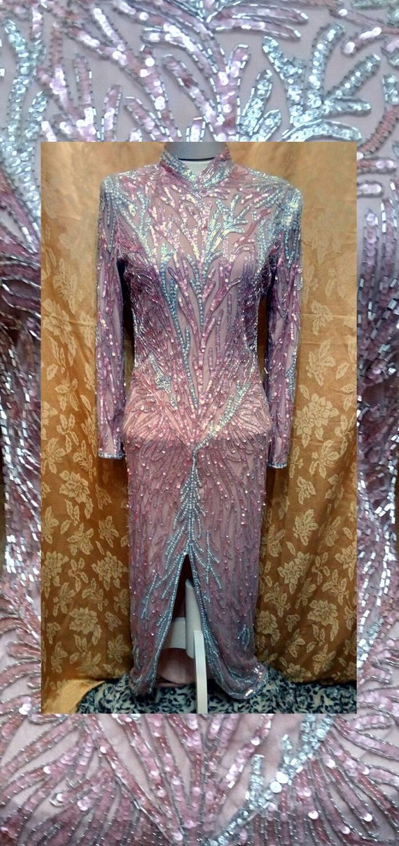 Bob Mackie Boutique Beaded Evening Gown