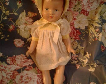 Free Shipping 1930's Composition Doll