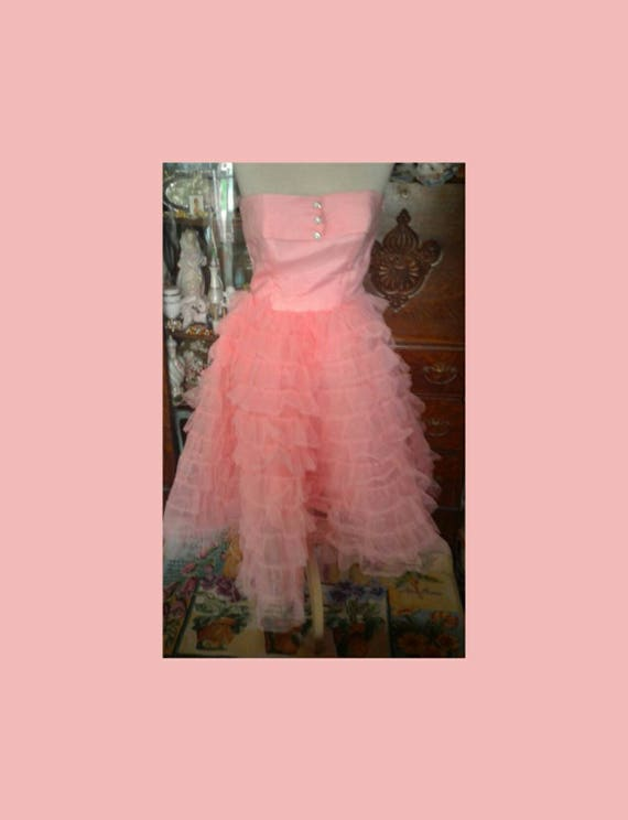 Betsey Johnson Pink Tulle Dress Size 8