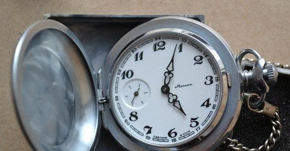 Pocket watch Molnia, Soviet pocket watch , Wind up