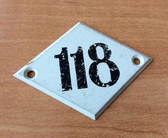 light metal vintage number sign plate 118 apt number plaque etsy